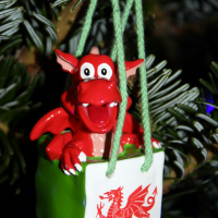 This dragon souvenir from Wales might just be my favorite Christmas tree ornament!