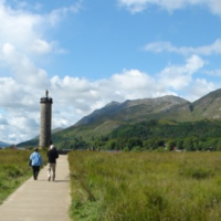 Glenfinnian monument in Scotland