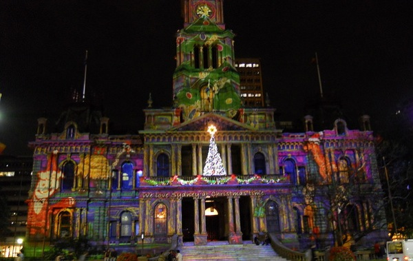 sydney town hall at christmas