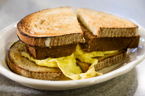 scrapple egg and cheese