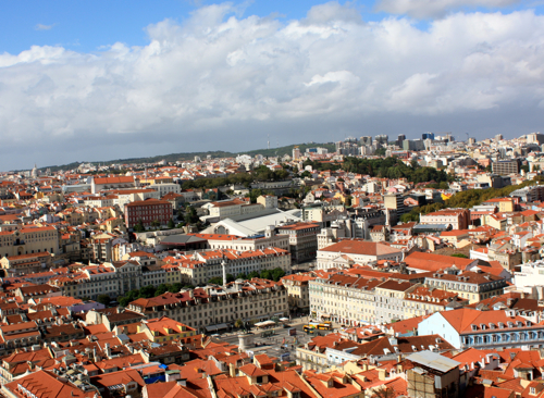 view from castelo