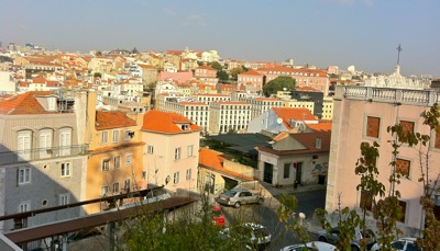view from Living Room in Lisbon