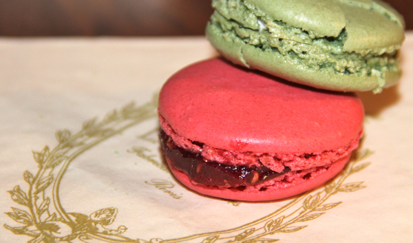 macarons pink and green