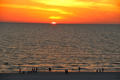 sunset florida gulf coast march