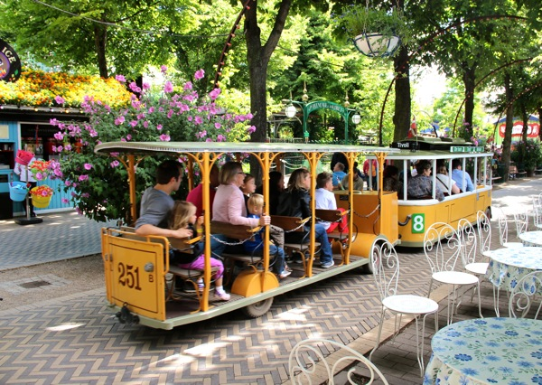 Tivoli isn't huge, but it's big enough to deserve a trolley.