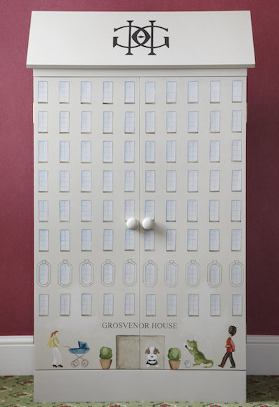 This custom dollhouse can be found at the Suite Dreams Nursery at the Grosvenor House in London -- it looks just like the hotel!
