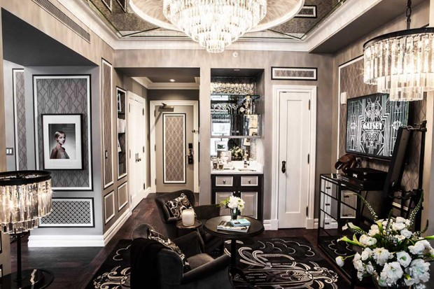 The Fitzgerald Suite at The Plaza designed by Catherine Martin - Living Room - credit Dario Calmese for The Plaza