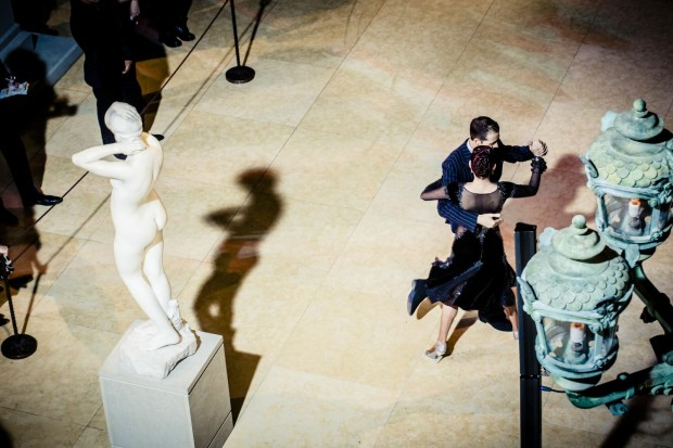The the Charles Engelhard Court in the American Wing really is the best place to tango at the Met.