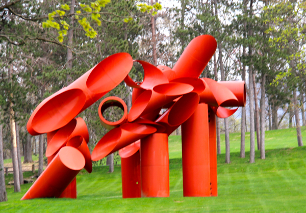 Illiad by Illiad by Alexander Lieberman; at Storm King Art Center