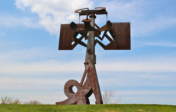 Frog Legs by Mark Di Suvero; the sculpture in at Storm King Art Center in New Windsor, NY