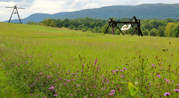Modern art at Storm King Art Center in the Hudson Valley of NY