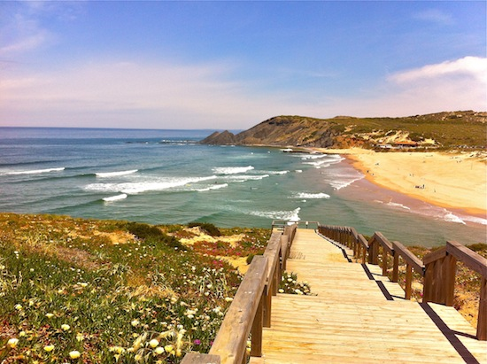 Praia da Amoreira, just a short drive from Aljezur, features a river that is good for bathing in the summer if the ocean is too rough. Photo by Elizabeth Montalbano. #beach