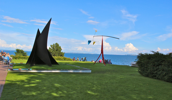 Alexander Calder sculptures in the Sculpture Park of the Louisiana Museum of Modern Art, which is in Denmark.