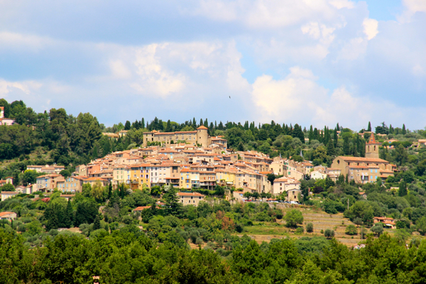 A closer look at Fayence, one of the perched Provencal villages you can see from Terre Blanche.