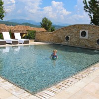 Have you ever seen a more beautiful kiddie pool in your life? This is at Terre Blanche in Provence.