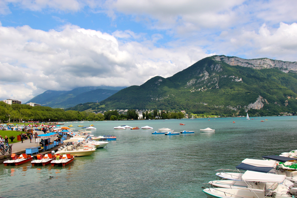 Beautiful Lake Annecy, France -- #perfect spot for boats!