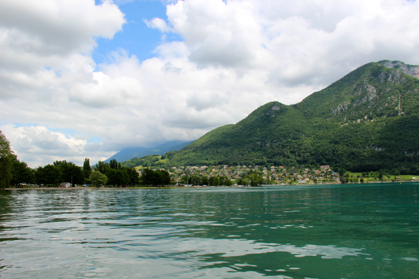 How many shades of blue and green can you find in Lake Annecy, France?