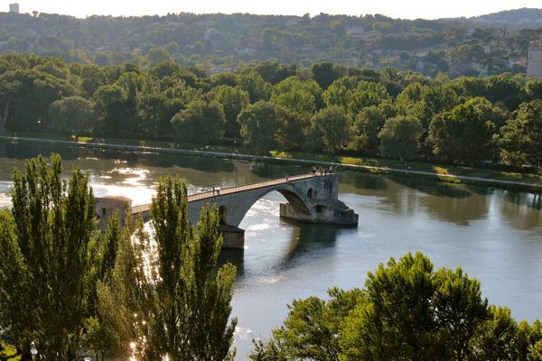 "The famous Pont Saint-Benezet or Pont D'Avignon, as it's also called. This bridge (now broken!) is made famous by the children's song ""Sur le Pont d'Avignon."""