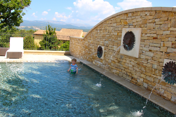 The children's pool at Terre Blanche in Provence -- so beautiful!