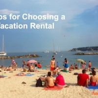 5 Tips for Choosing a Vacation Rental! My most recent was close to La Plage de la Gravette in Antibes, France.