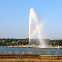If you catch Geneva's Jet d'Eau at the right time of day from the right angle, you can see a rainbow.