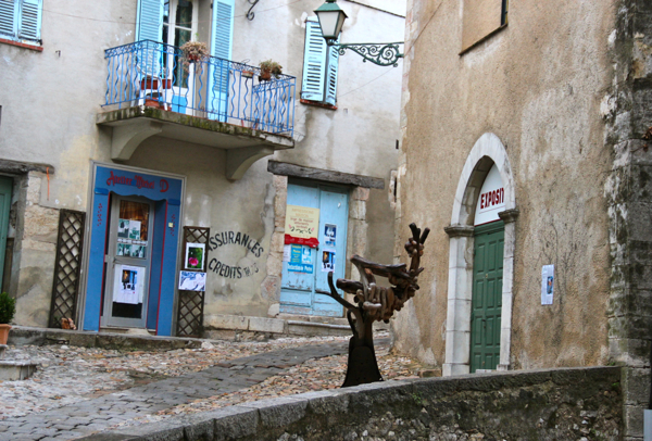 Max Ernst lived in Seillans, France, in the 1960s and '70s. The village owns a lot of artwork including this sculpture.