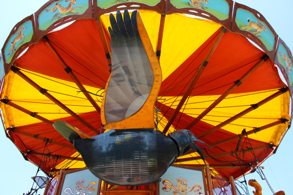 Flying high in Geneva... The bird on the Carousel of Fairy Tales