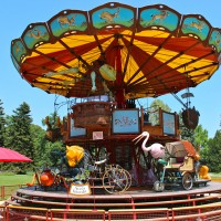 Carrousel des Fables -- the Carousel of Fairy Tales -- in the Botanic Garden of Genva