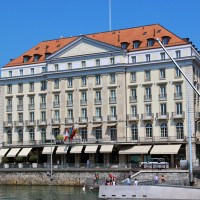 The Four Seasons Hotel Des Bergues in Geneva is the city's first hotel, having opened in 1834.