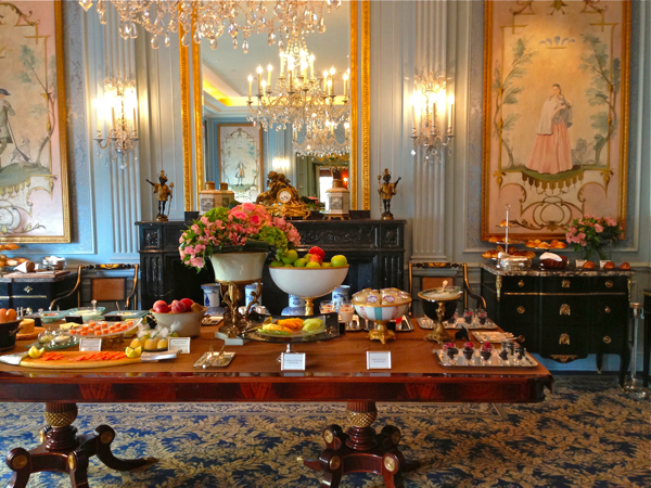 Like eating breakfast in a palace: the Four Seasons Geneva breakfast buffet.