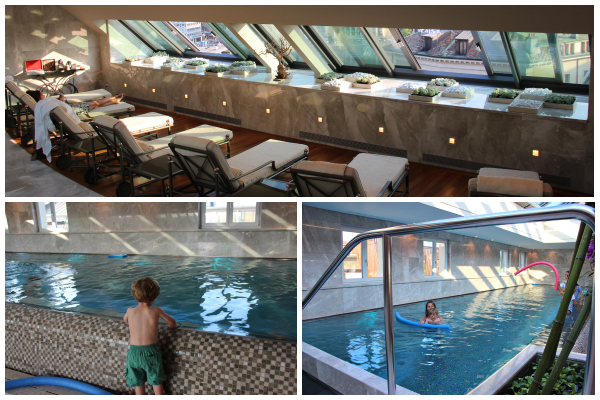 At the end of a long day of sightseeing in Geneva, we enjoyed cooling off at the new pool at the Four Seasons. #luxury #hotel #switzerland
