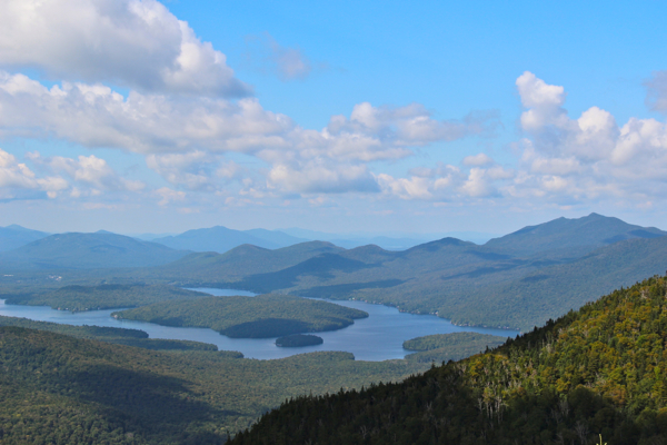 View of Lake Placid from Little Whiteface #adk