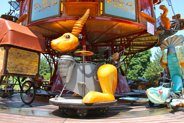 The rabbit on the Carousel of Fairy Tales. #switzerland
