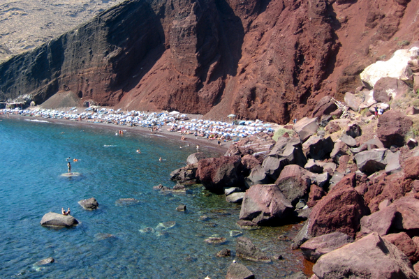The Red Beach in Santorini really is red!