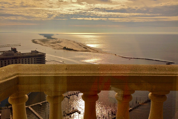 View from my room on the 25th floor of the Beau Rivage Biloxi