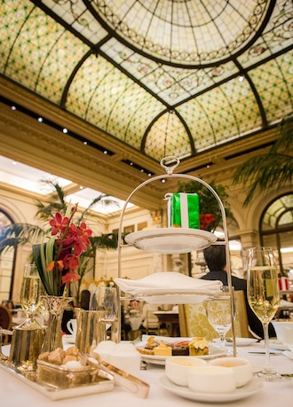 The Snowflake Tea at the Palm Court at The Plaza; photo by Dario Calmese for The Plaza
