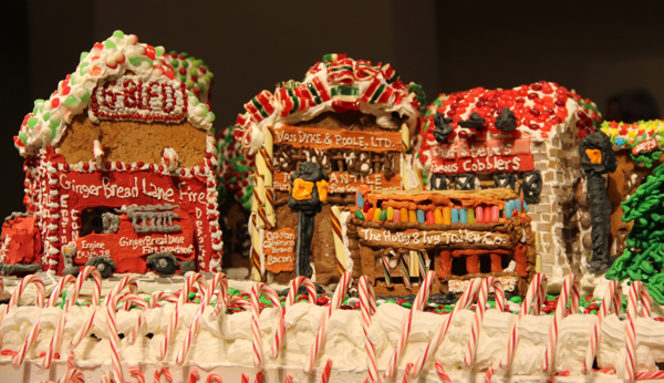 Gingerbread Lane wouldn't be complete without a fire station, of course!