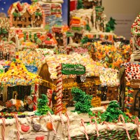 Just a small snippet of Gingerbread Lane at New York Hall of Science in Queens, NY... #gingerbread #christmas