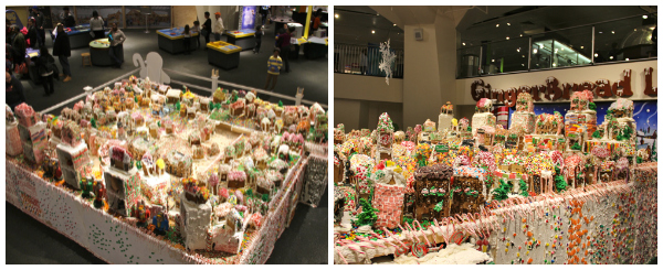 At the NY Hall of Science, Gingerbread Lane's 152 houses covers over 300 square-feet! #gingerbread