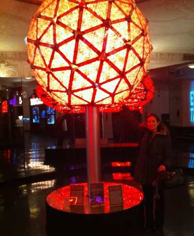 As long as it isn't New Year's Eve, you can touch the famous ball at The Times Square Visitors Center.