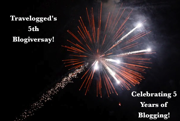 Celebrating 5 years of blogging! Happy #Blogiversary to Travelogged!