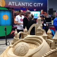 Matt Long's epic sandcastle at the Atlantic City exhibition at New York Times Travel Show.