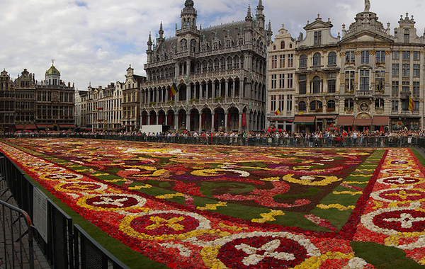 The 2008 Tapis de Fleurs (aka Flower Carpet) in Brussels.