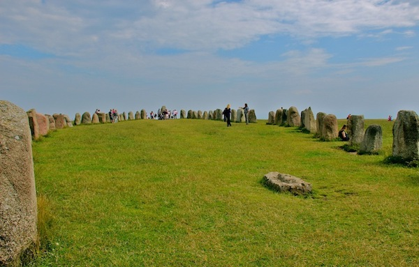 Sweden has its own version of Stonehenge, Ales Stenar, which means Ale's Stones.