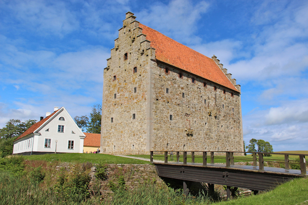The best-preserved medieval castle in Scandinavia, Glimmingehus looks like a massive stone box just sitting in the lush fields.
