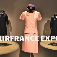 Air France uniforms through the decades at #AirFranceExpo