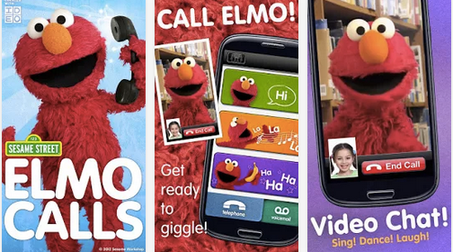 It's hard to find a toddler who won't love the Elmo Calls app.