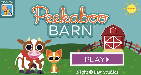 Peekaboo Barn is one of the best apps for two-year-olds.; it's available for the Samsung Galaxy on GooglePlay.