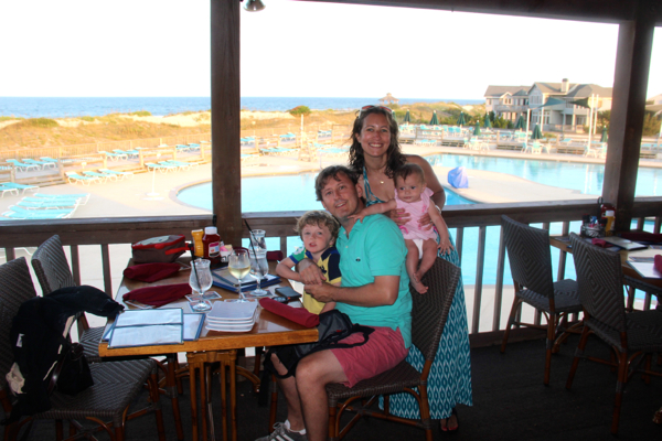 A fun evening at Oceanfront Grille at Corolla Light Resort in Corolla, NC