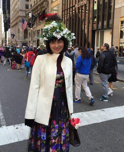 So stylish! The Easter Parade and Bonnet Festival founders would be proud. Very Fifth Avenue.